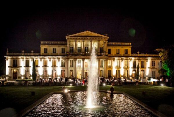 Villa-Des-Vergers-ingresso-imperiale-facciata-notte-eventi-matrimoni