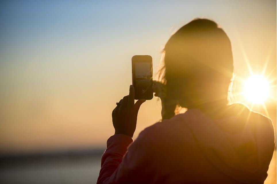 fotografare sulla spiaggia al tramonto con iphone